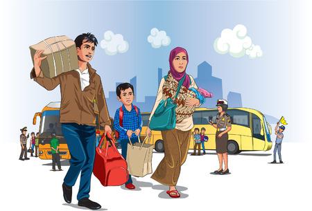 De regreso a la aldea el día de Eid