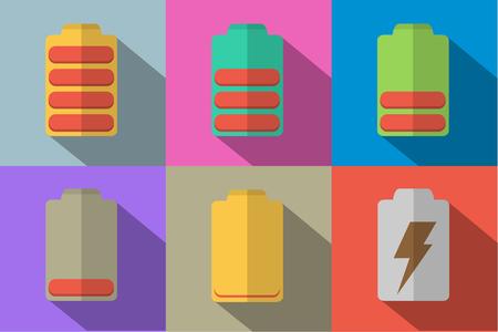 flat: flat icon desaign battery Illustration
