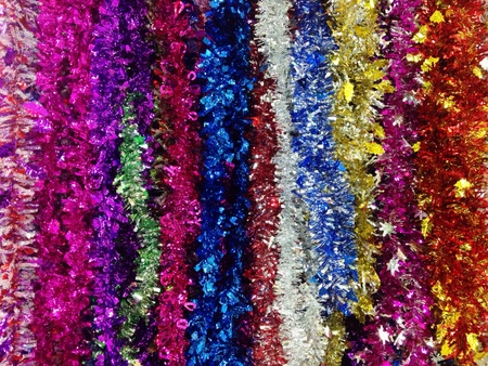 colorful: Colorful tinsels