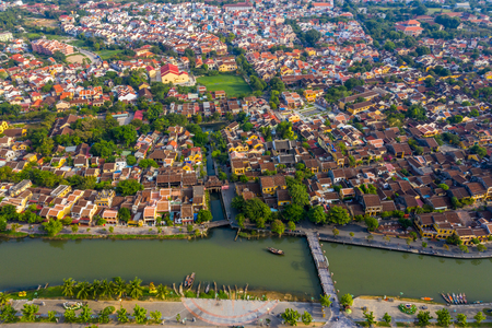 Aerial view of Hoi An ancient town of Vietnam