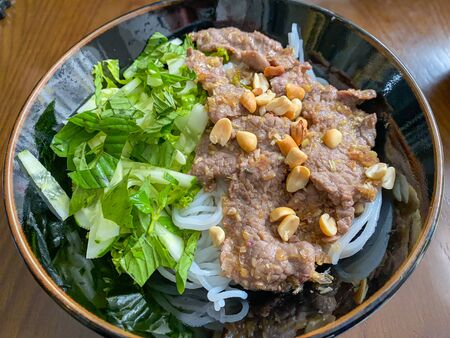 Vietnam delicious cuisine- braised beef and rice noodles