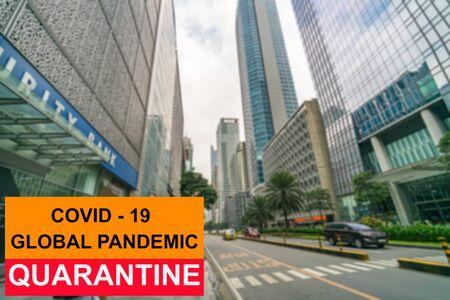 Coronavirus pandemic quarantine issue in Metro manila, Philippines