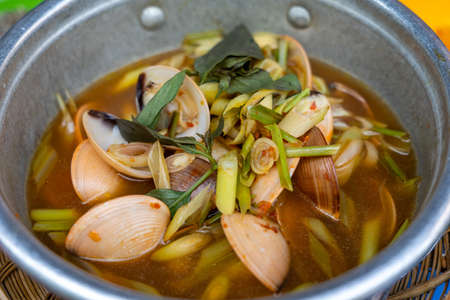 Spicy clam cooked with lemongrass and chili pepper - Vietnamese cuisine
