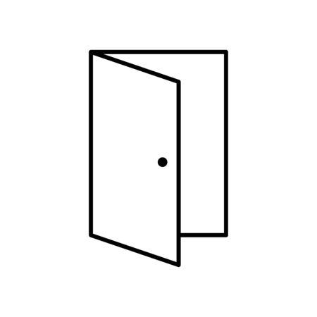 Open door line icon Vector Illustratie