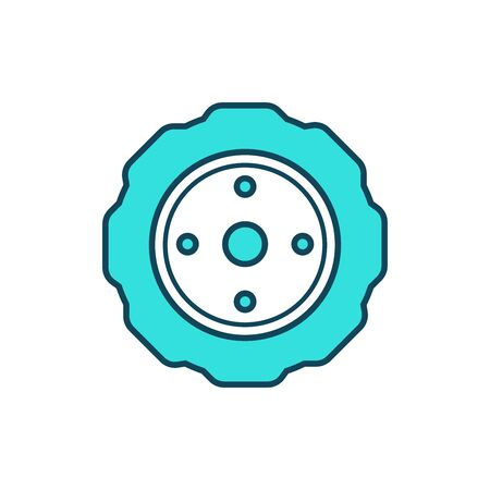 Tire, wheel car icon
