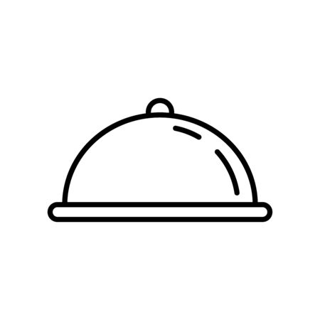 Food tray line icon 向量圖像