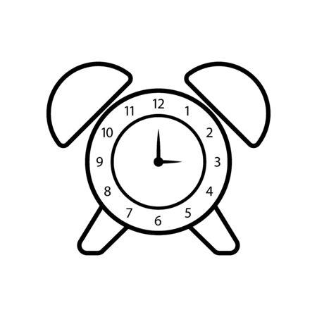 Alarm clock line icon Illusztráció