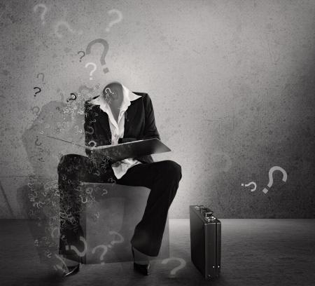 hesitancy: Question mark. Hesitation poster.Dilemma.