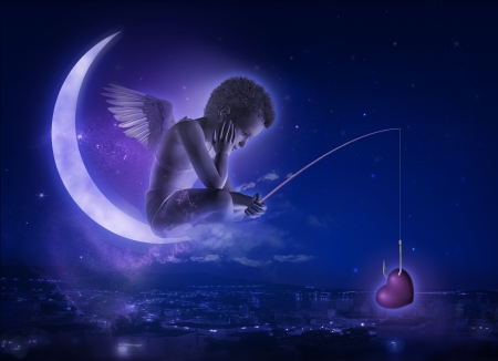 moon angels: Angel  3D - Photo compilation and computer drawing elements