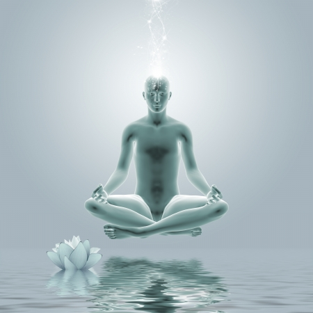 purification: Yoga Meditation - Digital graphic compilation  Computer drawing elements