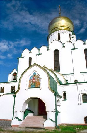 saint george: Russian Cathedral with icon of Saint George on the wall