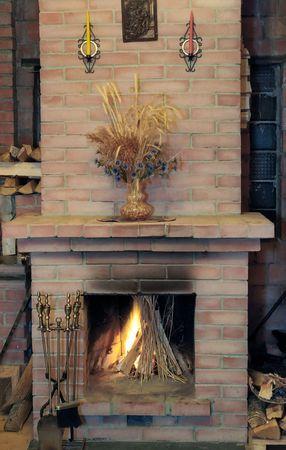Foyer de la flamme en maison de village