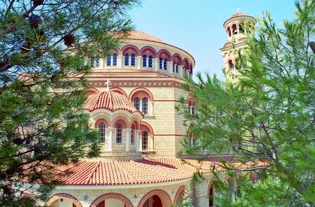 Church of Saint Nektarios monastery at Aegina island