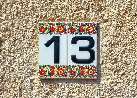 Ceramic nombre de Hydra maison Banque d'images