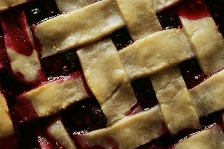 wickerwork: Berry pie wickerwork background