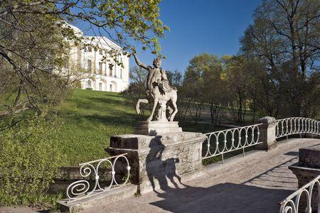Sculpture Centaur dans le pont pr�s du palais classique