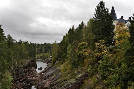 openair: River canion of Imatra nature park in Finland