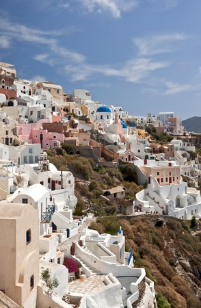 ia: Ia buildings of typical architecture in Santorini island