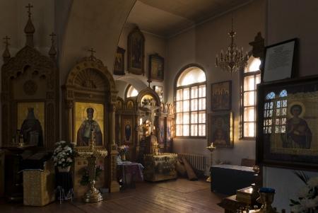 'saint nicholas': Russian orthodox Saint Nicholas church inside