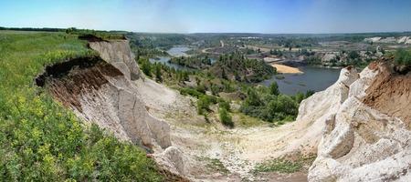 voronezh: Stitched PanoramaPanorama of Voronezh canyon White well