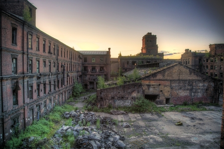 Abandoned Factory Red Triangle, Saint Petersburg, Russia. Location of filming Stalingrad