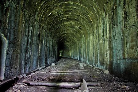 abkhazia: Abandoned railway tunnel in Tkvarcheli, Georgia, Abkhazia