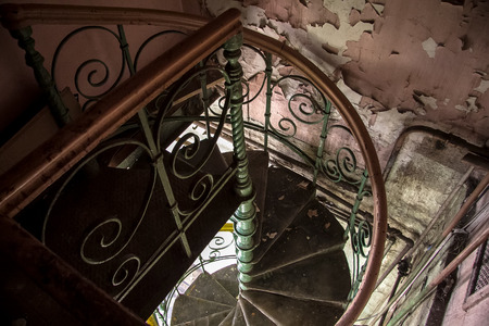 stalker: Spiral staircase in an abandoned Voronezh Distillery