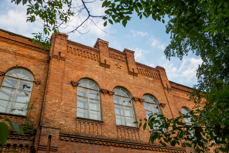 national historic site: Old red brick building of Chizhovsky barracks in Voronezh