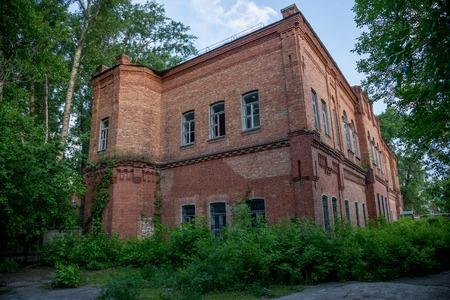 brick building: Old red brick building of Chizhovsky barracks in Voronezh