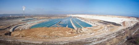 Panorama d'une mine de craie inondée, Belgorod