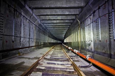 Abandoned subway tunnel under construction. Metro line under Nizhny Novgorod Stock Photo
