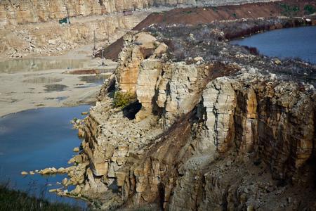 Limestone quarry with a pond in Lipetsk Region