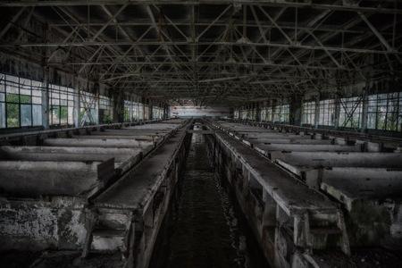 Abandoned wastewater purification treatment plants