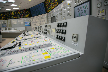 indication: Block control panel of nuclear power plant
