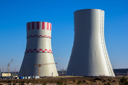 npp: Construction of cooling towers of Novovoronezh Nuclear power plant