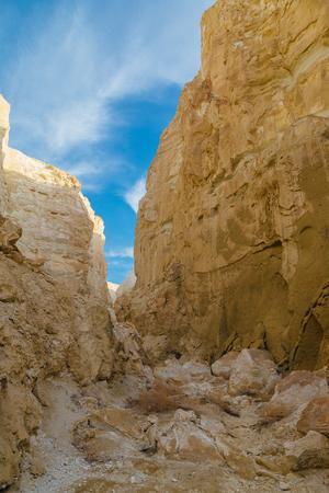 monument valley view: Mountain gorge in the mountain desert of Kazakhstan