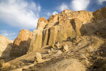 monument valley view: Mountain sierra in canyon Boszhira in Ustyurt plateau, Kazakhstan