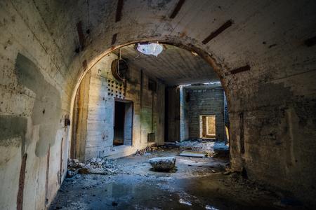 Object 221, abandoned soviet bunker, reserve command post of Black Sea Fleet Stock Photo