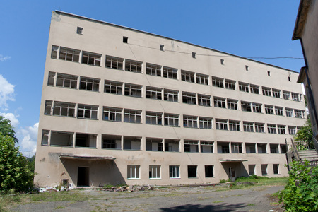 sukhumi: Abandoned building of soviet Research Institute of Experimental pathology and therapy