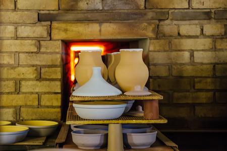 Despedida de cerámica en el horno Foto de archivo