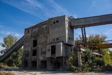 Abandoned factory of reinforced concrete.