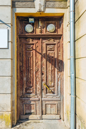 Old vintage door of old mansion.