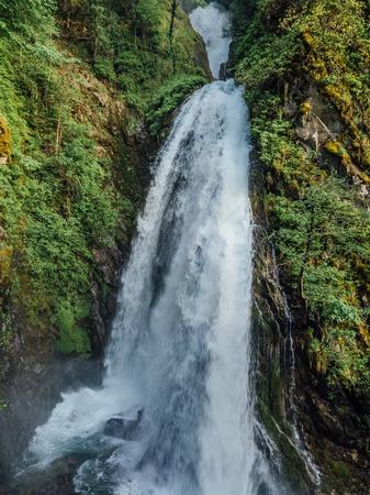 Beautiful and powerful waterfall Jirhwa in Abkhazia.