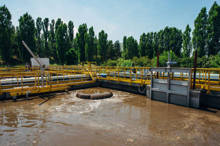 Modern wastewater treatment plant