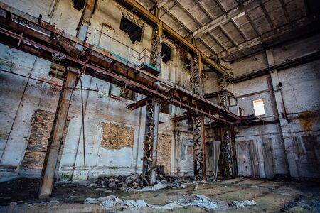 Abandoned and ruined sugar factory in Lower Kislyay, Voronezh region Stok Fotoğraf - 130126797