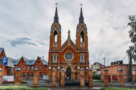 Roman Catholic Church of the Exaltation of the Holy Cross in Tambov, Russia. Stok Fotoğraf