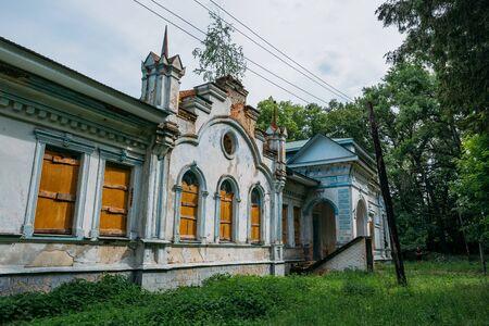 Old abandoned mansion in Turmasovo village, Tambov region.