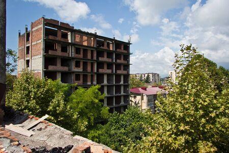 Abandoned ruined hostel in Sukhum, Abkhazia, Georgia