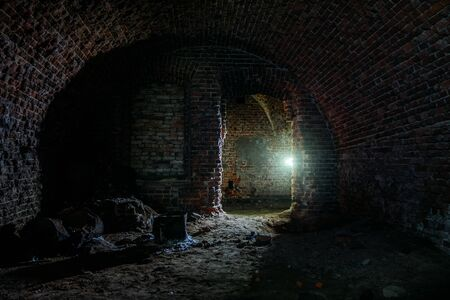 Dark dungeon under the old Prussian fortress Banque d'images - 139368747