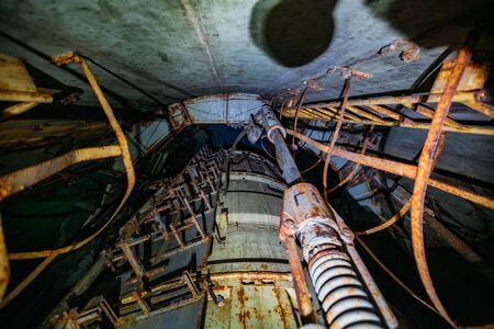 Abandoned unified missile underground command post mine type.